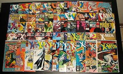 X-Men HUGE LOT bronze up 56 COMICS! Uncanny Beast Cable Phoenix Bishop Marvel!