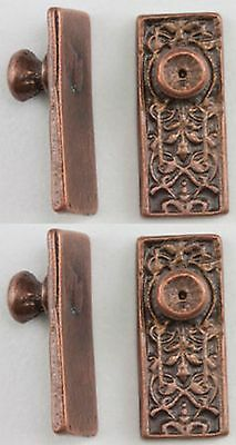 DOLLHOUSE MINIATURE 1:12 Ornate Door Knobs in Oil Rubbed Bronze ...