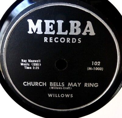 Schellack 78rpm Willow Church Bells May Ring Melba 102 Baby Tell Me Ex/NM