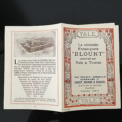 Catalogue Ancien 1900 Yale & Towne Bloque Porte Advert Arts And Crafts