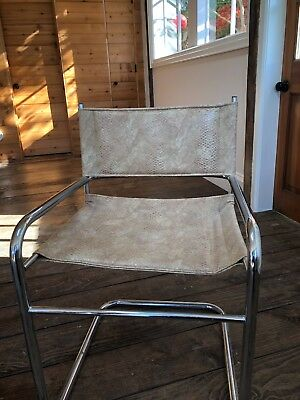 set of 6 ITALIAN NATUZZI Leather Dining Chairs -very good condition-