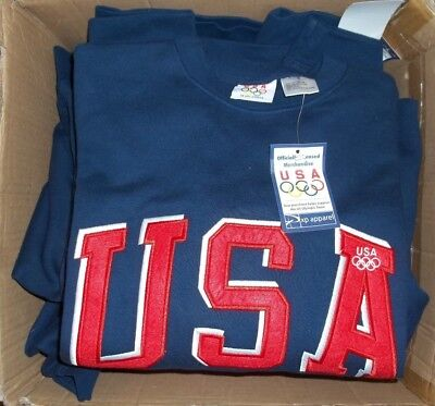 "Team USA 2004 Olympic Sweatshirt - Embroidered With A Felt ""USA"" - Small - NEW"