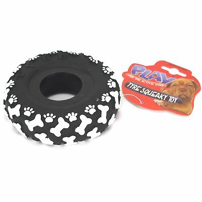 12cm LONG LASTING Chunky Big Tyre Dog Tug Toy Fetch Chew Strong Pet Play Novelty