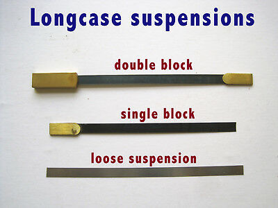 Longcase Suspension for Grandfather clock, suspension spring choice
