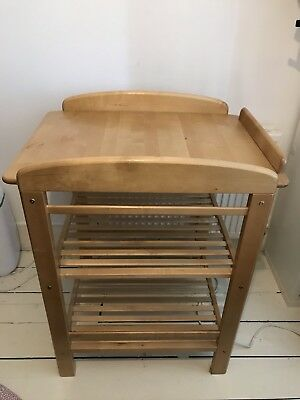 John Lewis Solid Wood Baby Change Table