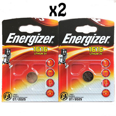 2 x Energizer 1616 CR1616 3V Lithium Coin Cell Battery DL1616 BR1616 Date: 2025