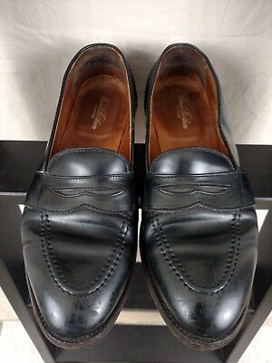 d6f1512bdc8 Alden Shell Cordovan LHS Leather Full Strap Penny Loafers Brooks Brothers  9.5 C