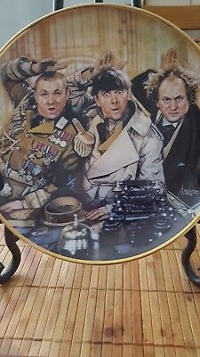 "The 3 Stooges Plate ""the Three Stooges"" Franklin Mint 1993 Limited Edition"