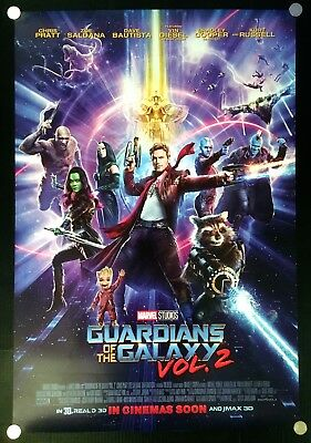 Guardians of the Galaxy Vol 2 Original Movie Poster Int Advance Version DS Rare