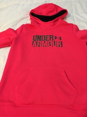 UNDER ARMOUR GIRLS youth extra large PULLOVER STORM HOODIE