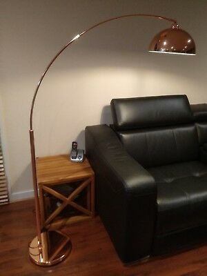 Mid Century Modern Cantilever Design Grange Floor Lamp Copper - 166cm Height