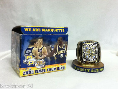 Final Four ring  2003 NCAA Marquette University basketball Wisconsin Milw  CP8