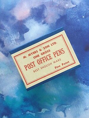 Vintage Fine Point Post office dip pen nibs made by Myers & Son