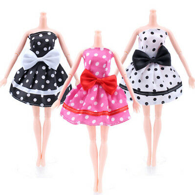 Fashion Handmade Dolls Dress Princess Gown Evening Party Clothes for Barbie Doll