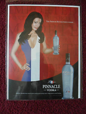 2008 Print Ad Pinnacle Vodka ~ Sexy Busty Girl The French Revolution is Here