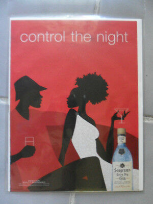 2002 Print Ad Seagram's Gin ~ CONTROL THE NIGHT BLACK Afro-American Art Series