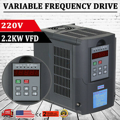 2.2KW 3HP VFD VSD Variable Frequecy Drive Inverter Motor Single Phase 10A 220V