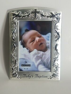 NIB MALDEN BABY\'S Baptism Glass Picture Frame for 4x6 photo - $11.99 ...