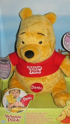 Disney t71854 Winnie the Pooh Stuffed Toy with Sound NEW/Original Package