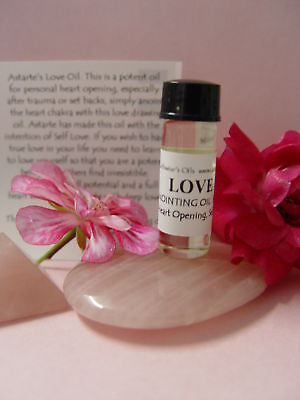 LOVE OIL - Wicca Witch Spell Pagan Goth Punk HEART OPENING SELF LOVE DRAW LOVE