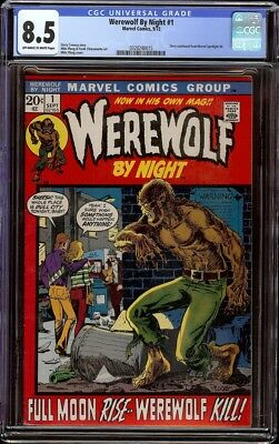 Werewolf by Night # 1 CGC 8.5 OW/W (Marvel, 1973) Mike Ploog cover