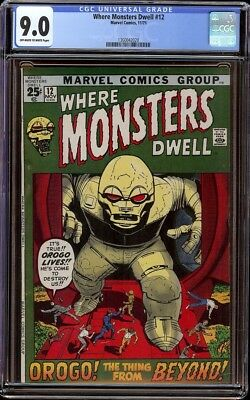 Where Monsters Dwell # 12 CGC 9.0 OWW (Marvel, 1971) Tough Pictureframe cover