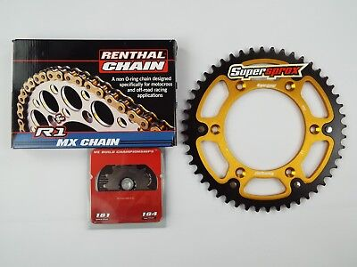 Husqvarna FC350 FE350 Gold Renthal R1 Chain And Supersprox Stealth Sprocket Kit