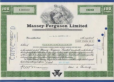 017 USA 1971 Aktie - Massey-Ferguson Limited, 100 Shares