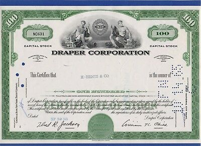 016 USA 1965 Aktie - Draper Corporation, 100 Shares