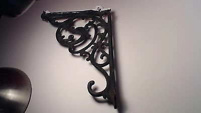 Antique Victorian Large Cast Iron Corner Shelf Bracket with Bird Phoenix