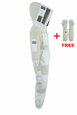 3 Layer beekeeping full suit hive vented ventilated jacket Astronaut veil-A