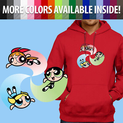 Powerpuff Girls Bubbles Buttercup Blossom 90s Pullover Sweatshirt Hoodie Sweater