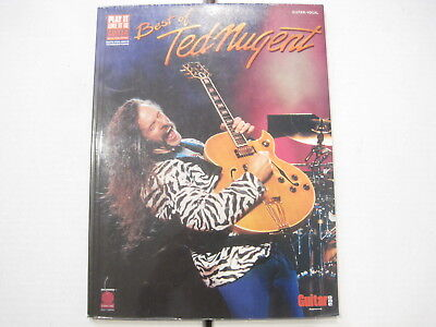 Ted Nugent Best of Sheet Music Song Book Songbook Guitar Tab Tablature