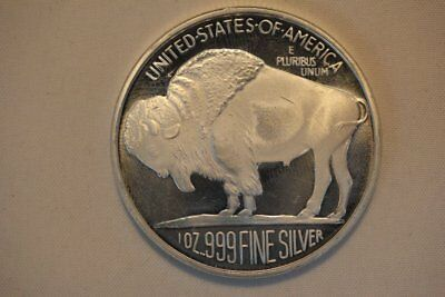 Silvertowne 1 oz .999 Fine Silver Round - Indian Head Buffalo Bison
