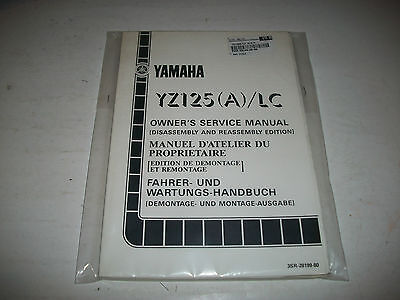 Nos New 1989 Yamaha Yz 125 (A)/lc Motorcycle Owners Service Manual Cmystor4More