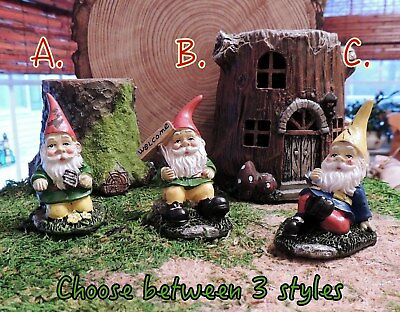 Miniature Woodland Planting Activity Gnomes Choose 3 Styles Fairy Garden Decor
