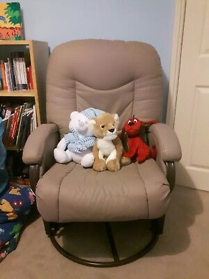 Kiddicare Cloud Nine Deluxe Glider Chair And Stool - Feeding - Nursing