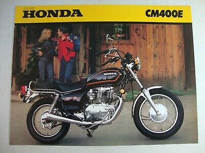 1980 Honda CM400E OEM Dealer Sales Brochure MINT CONDITION!