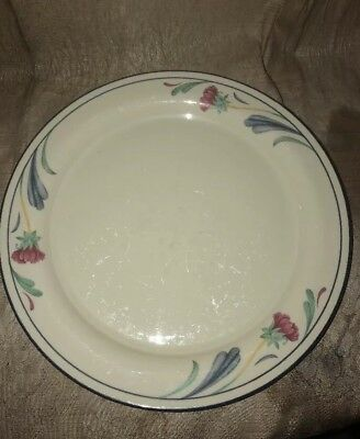 "Lenox Poppies on Blue 1 Dinner Plates 10.75"" Chinastone Made in USA"