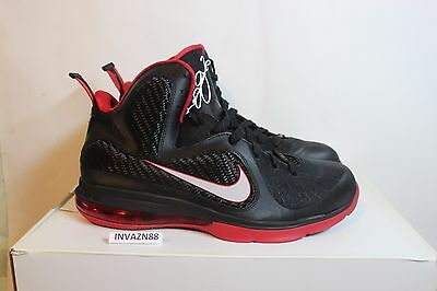 fbb1322a84a Nike Air Zoom Max Lebron 9 Ix Bred Black Red Miami Heat Home Away Ds Size