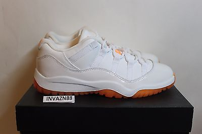 cf792b8745b1bb NIKE AIR JORDAN 11 XI Low Citrus Orange White 1Y Pre School 580521 ...
