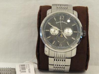 1aa2f8b4632 Tommy Bahama Moon Phase Watch Stainless Steel Deployment Band Day, Date  TB3061