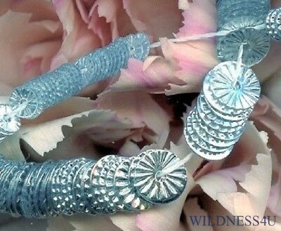 New RUFFLE INDENT SILVER SEQUINS PAILLETTES SUNBURST FRENCH COUTURE 5mm Wheels