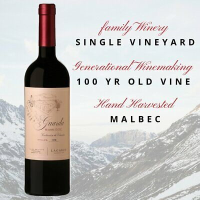 Red Wine Lagarde Guarda Malbec DOC 2015 - Case of 12 Bottles