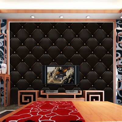 3D Vintage Leather Textured Wallpaper Mural Realistic Waterproof TV Background C