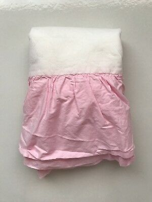 Pink Ruffled Crib Skirt 100% Cotton Koala Kids Babies R Us EUC