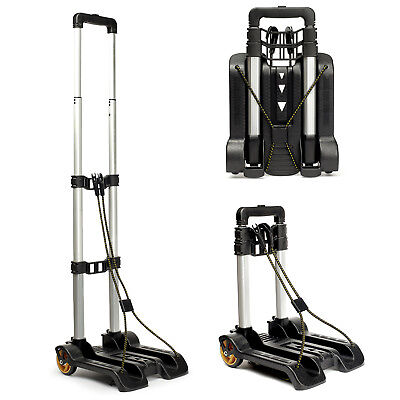 Aluminium Folding Travel Luggage Cart Trolley Hand Truck Portable Shopping
