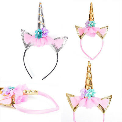 Magical Unicorn Horn Head Party Hair Headband Fancy Dress Cosplay Decorative HL