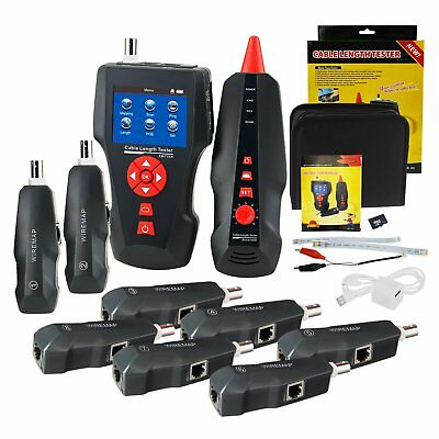 LAN Network Cable Tester Wire Tracker RJ45, RJ11, BNC With 8 Remote Identifier