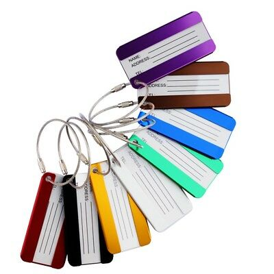 Useful Travel Suitcase Luggage Baggage Tag Bag ID Name Address Label Metal